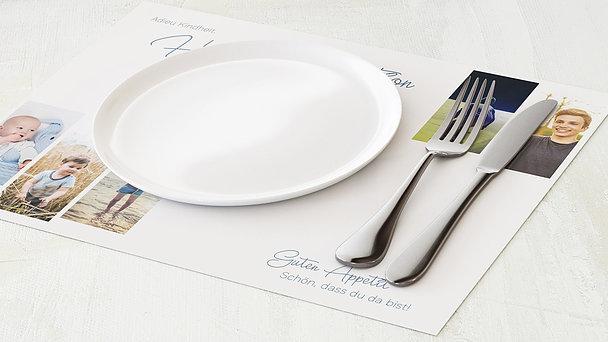 Tischset Konfirmation - So schnell groß