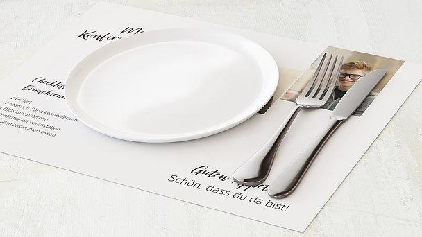 Tischset Konfirmation - Gekachelt