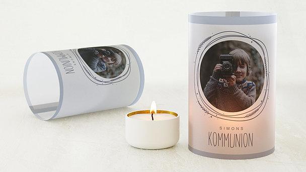 Windlicht Kommunion - Himmelskreis