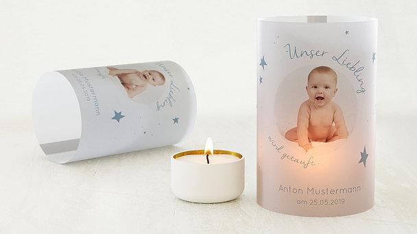 Windlicht Taufe - Baby Star