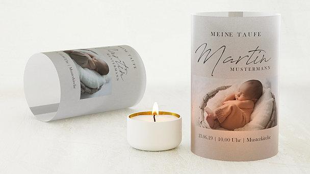 Windlicht Taufe - Kleines Wunder
