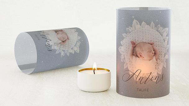 Windlicht Taufe - Blütenspiegel