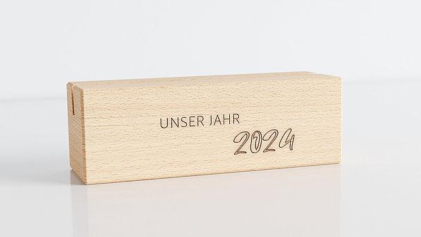 Holzblöcke - Botanikum Tischkalender