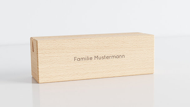Holzblöcke - Klassisch Tischkalender