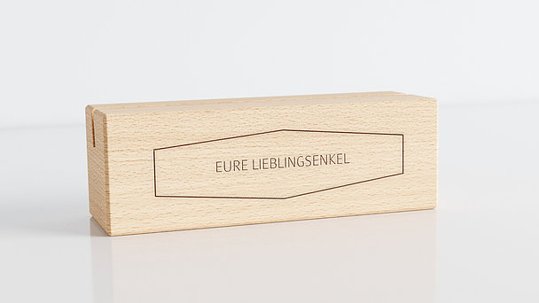 Holzblöcke - Polygon Tischkalender