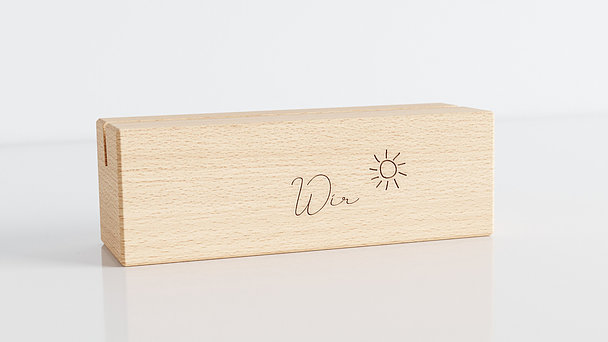 Holzblöcke - Familiengeschichten Tischkalender
