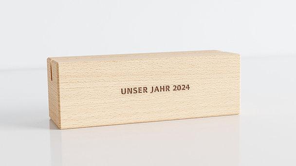 Holzblöcke - Lebendige Momente Tischkalender