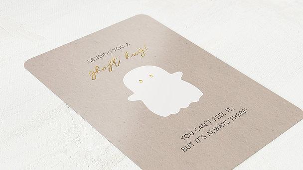 Grußkarten - Ghost hug