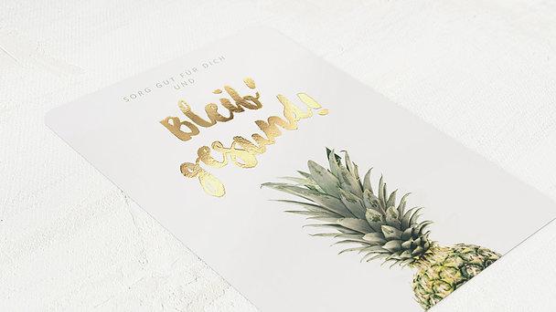 Grußkarten - Frische Ananas