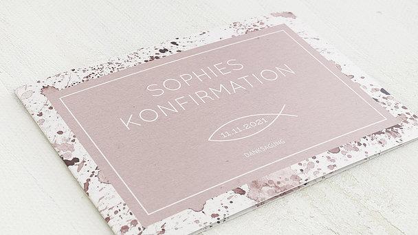 Danksagungen zur Konfirmation - Konfirmations-Impression