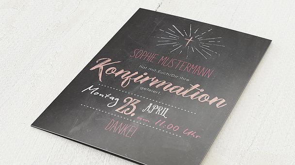 Danksagungen zur Konfirmation - Ankündigung