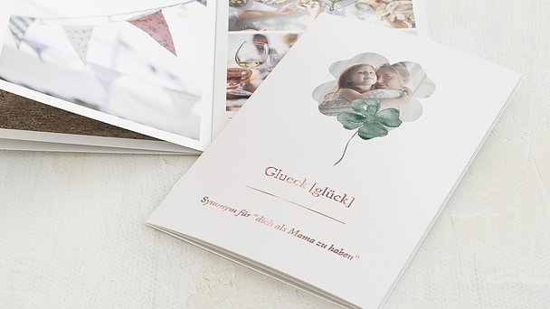 Mini Fotobuch - Vierblättriger Klee