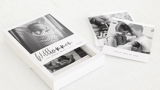 Schuber Retrofotos - Willkommen Baby