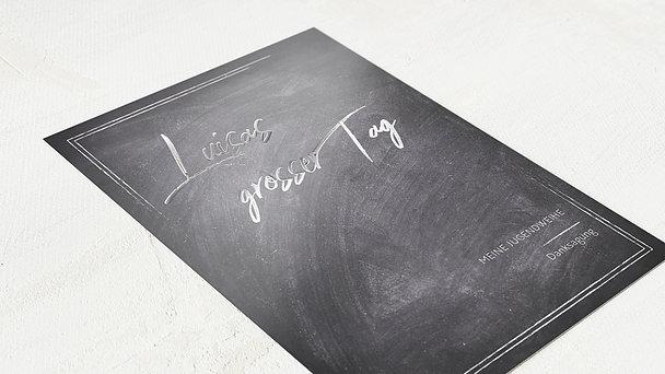Danksagungen zur Jugendweihe - Tafelglanz