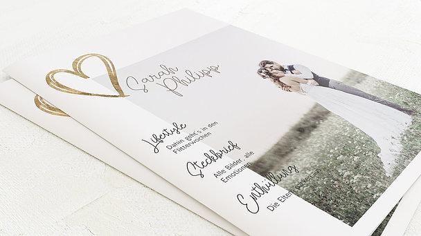 Hochzeitszeitung - Herz über Kopf Festschrift