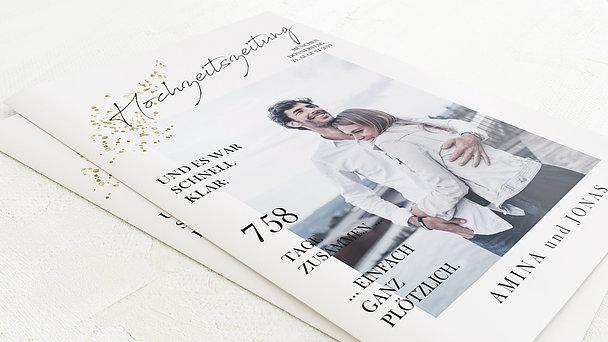 Hochzeitszeitung - Freudensprenkel Festschrift