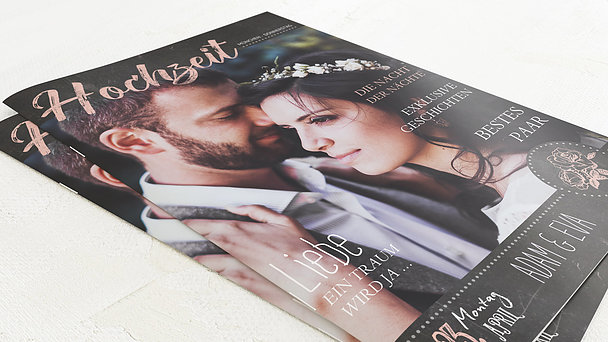 Hochzeitszeitung - Ankündigung Festschrift