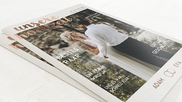 Hochzeitszeitung - Edles Ja Festschrift