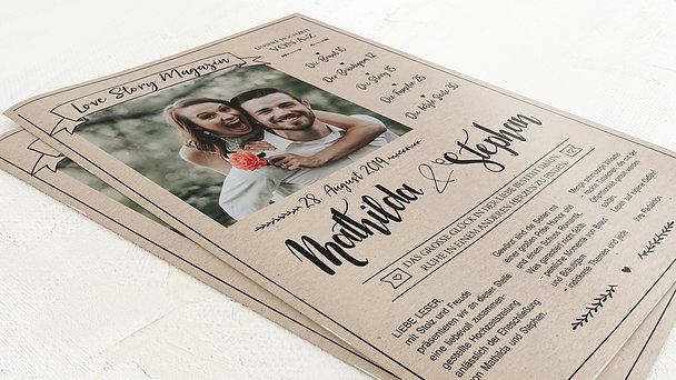 Hochzeitszeitung - Kraftpapier Festschrift