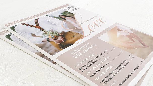 Hochzeitszeitung - Glitterfunken Festschrift