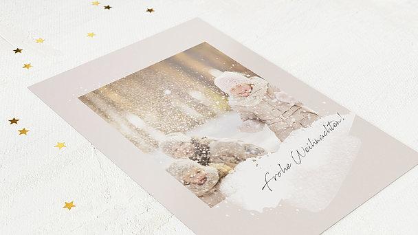 Weihnachtskarten - Flockenzauber