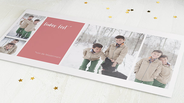 Weihnachtskarten - Familienfest