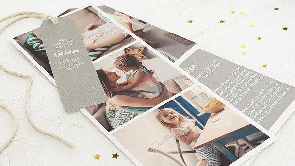 Weihnachtskarten - Zweig und Sternchen