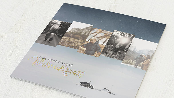 Weihnachtskarten - Hüttenzauber