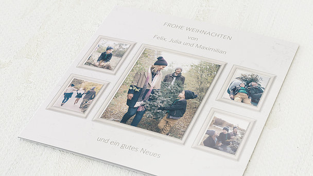 Weihnachtskarten - Familiencollage