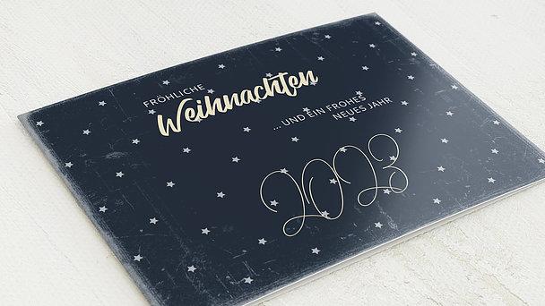 Weihnachtskarten - Sternennacht