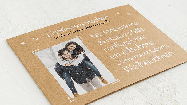 Weihnachtskarten - liebe Worte