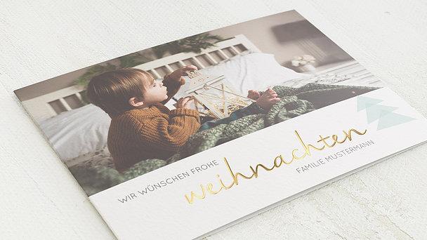Weihnachtskarten - Abstraktes Bäumchen