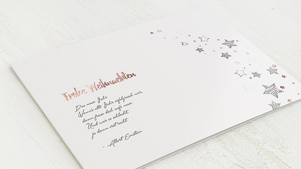 Weihnachtskarten - Sternenflut