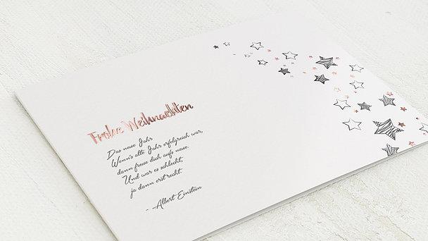 weihnachtskarten sternenflut detail. Black Bedroom Furniture Sets. Home Design Ideas