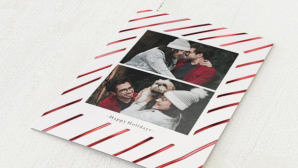 Weihnachtskarten - Striped Christmas