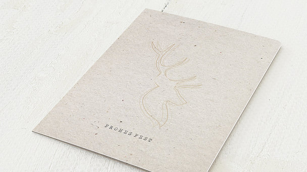Weihnachtskarten - Elchprofil