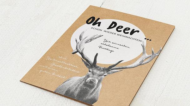 Weihnachtskarten - Oh deer