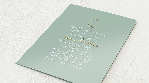 Weihnachtskarten - Buchstabenkerze