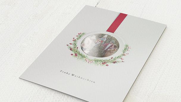 Weihnachtskarten - Weihnachtsmedaillon
