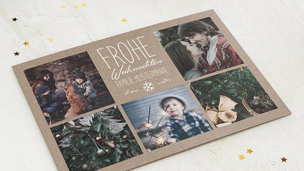 Weihnachtskarten - Rustique