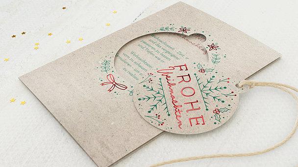 Weihnachtskarten - Merry X-Mas