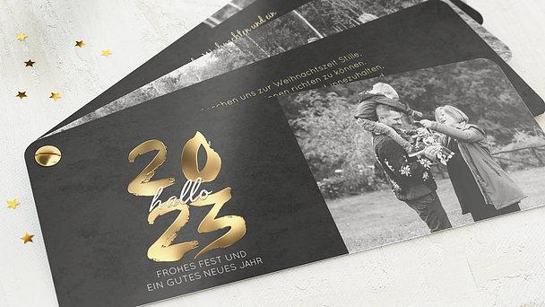 Weihnachtskarten - Goldenes Jahr