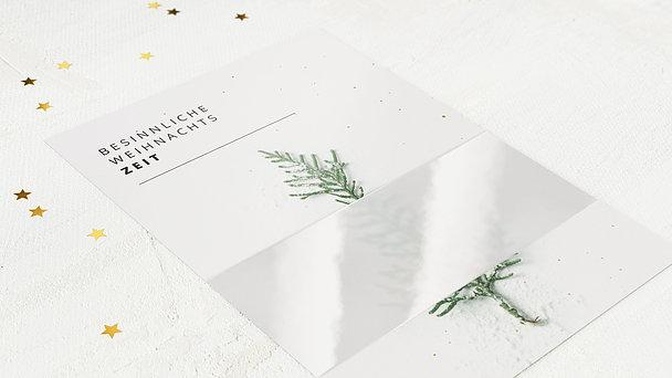 Weihnachtskarten Geschäftlich - Zarte Banderole