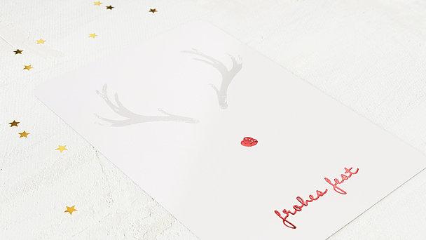 Weihnachtskarten Geschäftlich - Hirschspuren
