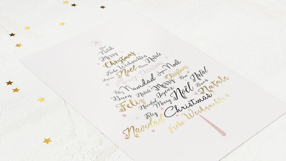 weihnachtskarten gesch ftlich sprachenbaum detail. Black Bedroom Furniture Sets. Home Design Ideas
