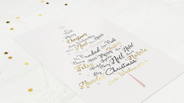 Weihnachtskarten Geschäftlich - Sprachenbaum