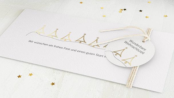 Weihnachtskarten Geschäftlich - Weihnachtliches Wäldchen