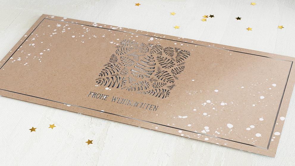 weihnachtskarten gesch ftlich tannenzapfen detail. Black Bedroom Furniture Sets. Home Design Ideas