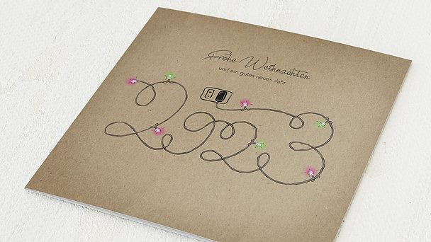 Weihnachtskarten Geschäftlich - Glühender Jahresstart