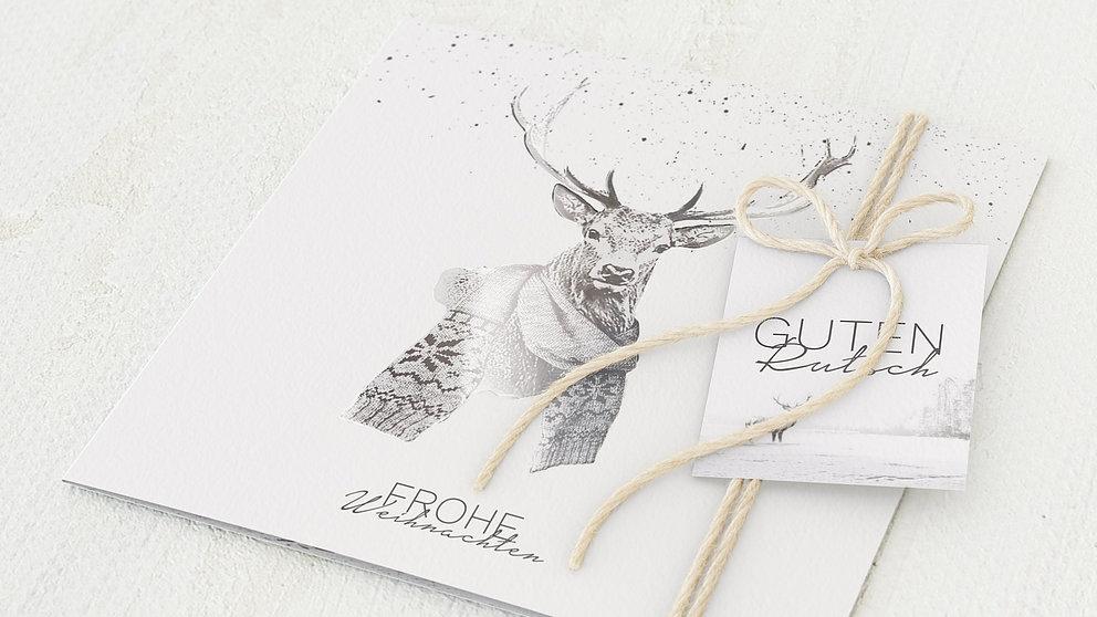 weihnachtskarten gesch ftlich der elch detail. Black Bedroom Furniture Sets. Home Design Ideas